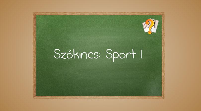Szókincs: Sport